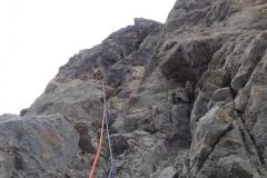 spigolo-sud-pilastro-della-plote-klettern-10-SL7-Blick-zum-Stand