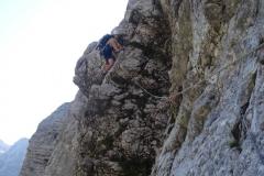 trzaska-smer-triglav-klettern-04-3.SL-nach-der-bruechigen-Verschneidung