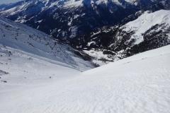 glockwandscharte-reitereck-vorgipfel-skitour-07-Blick-in-die-Perschitz-auf-Abfahrt