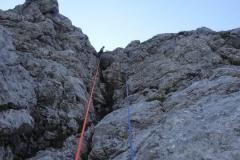 bratovska-smer-srebrnjak-klettern-05-in-der-ersten-SL