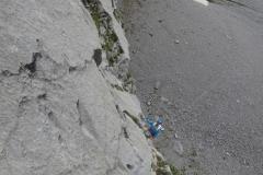 spigolo-sud-pilastro-della-plote-klettern-04-SL1-Nachstieg.